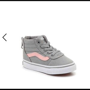 Grey and pink toddler vans